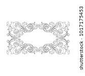 classical baroque vector of... | Shutterstock .eps vector #1017175453