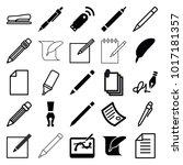 pen icons. set of 25 editable... | Shutterstock .eps vector #1017181357