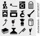 clean icons. set of 16 editable ... | Shutterstock .eps vector #1017181927