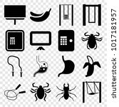 painting icons. set of 16... | Shutterstock .eps vector #1017181957