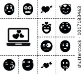feeling icons. set of 13... | Shutterstock .eps vector #1017183463