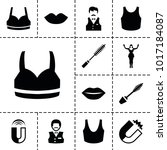 attractive icons. set of 13...   Shutterstock .eps vector #1017184087