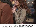 close up of affectionate man... | Shutterstock . vector #1017186043