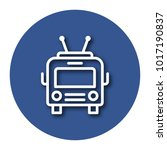 line icon of trolleybus with... | Shutterstock .eps vector #1017190837