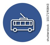 line icon of trolleybus with... | Shutterstock .eps vector #1017190843