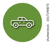 line icon of pickup truck with... | Shutterstock .eps vector #1017190873