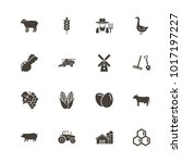 farming icons. flat simple icon ... | Shutterstock . vector #1017197227