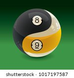 yin yang billiards balls 8 ball ... | Shutterstock .eps vector #1017197587