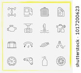 auto parts line icon set oil... | Shutterstock .eps vector #1017200623