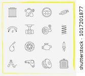 auto parts line icon set... | Shutterstock .eps vector #1017201877