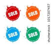 sold splattered grunge vector... | Shutterstock .eps vector #1017207457