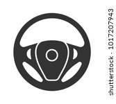 car rudder glyph icon. steering ... | Shutterstock .eps vector #1017207943