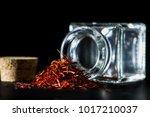 shafran on black background | Shutterstock . vector #1017210037