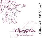 floral background. hand drawn... | Shutterstock .eps vector #1017213697