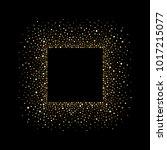 golden square border made of...   Shutterstock .eps vector #1017215077