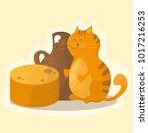shrovetide or maslenitsa.... | Shutterstock .eps vector #1017216253