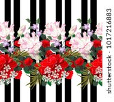 seamless pattern with beautiful ... | Shutterstock .eps vector #1017216883