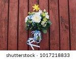 original wedding bouquet with... | Shutterstock . vector #1017218833