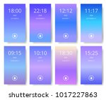 set of modern user interface ... | Shutterstock .eps vector #1017227863