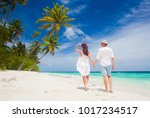 happy young couple having fun... | Shutterstock . vector #1017234517