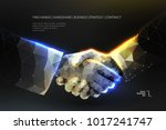 abstract image two hands... | Shutterstock .eps vector #1017241747