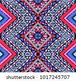 indian embroidery. geometric... | Shutterstock .eps vector #1017245707