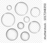 vector air bubbles texture set... | Shutterstock .eps vector #1017248353