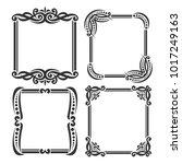 vector set of decorative black... | Shutterstock .eps vector #1017249163