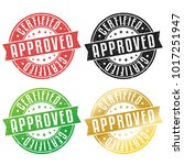 approved certified quality... | Shutterstock .eps vector #1017251947