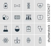 illustration of 16 medical... | Shutterstock . vector #1017252427