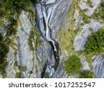 Aerial View Of A Waterfall In...