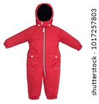 childrens snowsuit fall on a...   Shutterstock . vector #1017257803