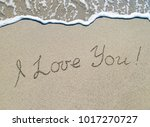 "words ""i love you"" outline on... 