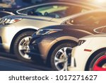 pre owned vehicles for sale in... | Shutterstock . vector #1017271627