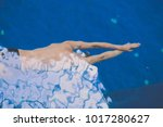 male swimmer at the swimming... | Shutterstock . vector #1017280627