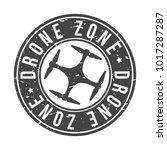 drone zone icon vectorial round ...