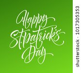 saint patrick day greeting... | Shutterstock .eps vector #1017305353