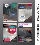 polygon modern brochure vector... | Shutterstock .eps vector #1017307573