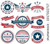 american vector label for... | Shutterstock .eps vector #1017322717