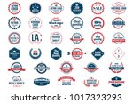 vintage retro vector logo for... | Shutterstock .eps vector #1017323293