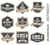 vintage retro vector logo for... | Shutterstock .eps vector #1017323317
