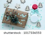 christmas gifts and gifts for... | Shutterstock . vector #1017336553