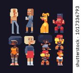video game characters set.... | Shutterstock .eps vector #1017336793