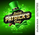 saint patrick's day party... | Shutterstock .eps vector #1017337003