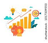 income increase  financial...   Shutterstock .eps vector #1017339553