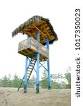 baywatch tower on the coast of... | Shutterstock . vector #1017350023