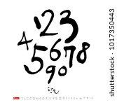 korean alphabet   handwritten... | Shutterstock .eps vector #1017350443