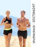 fit athletes couple training...   Shutterstock . vector #1017366247