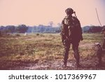 british army soldier during the ... | Shutterstock . vector #1017369967