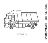 line flat vector icon... | Shutterstock .eps vector #1017370003